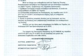 Έκθεση Εξελεγκτικής Επιτροπής